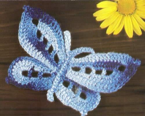 curiosicosas: mariposas tejidas a crochet