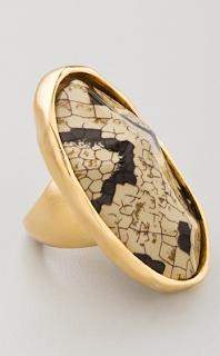 snake skin ring, fashion blog