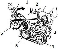 2002 Toyota Camry Serpentine Belt on 1999 chevy s10 parts diagram