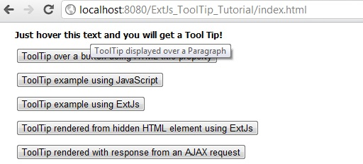 Display ToolTip Hover Text over HTML elements