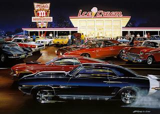 Pinturas De Paisajes Modernos Con Carros