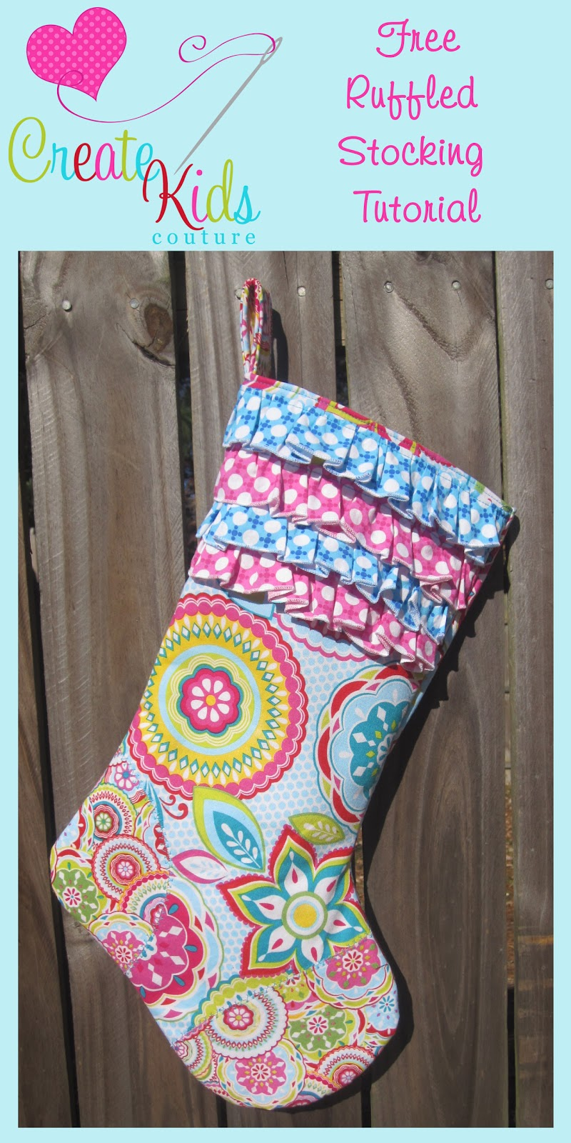 Create Kids Couture Free Ruffled Stocking Pattern And
