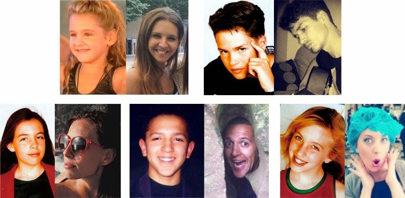 Antes y después de Rebeca Marcos, Sergio Martín, Estela Sala, Cristina Hervás y José Luis Cid, en la actualidad
