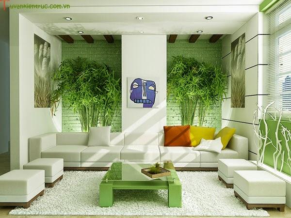 Cây xanh giúp không gian nội thất được thông thoáng
