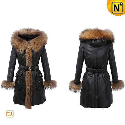 Women Long Sheepskin Coat