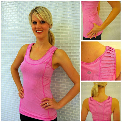 lululemon stay on course yoga tank in pink