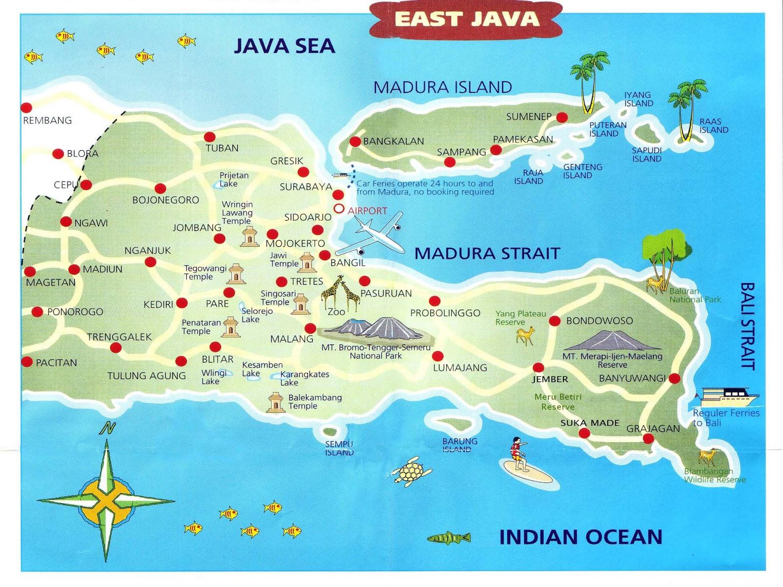 Map Of East Java Pulau Sapudi