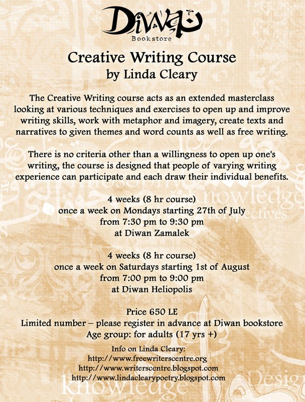 diwan bookstore creative writing course See our list of universities that offer free online writing courses with the structural skills to organize and develop extended pieces of creative writing.