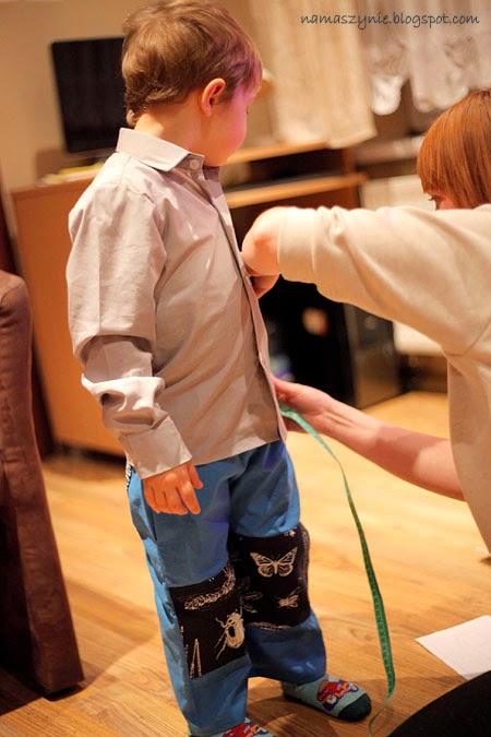 dla chłopca, dla dzieci, jak uszyć, Kieszenie, kieszeń wszywana w szew, na gumce, Spodenki, tutorial, ubrania, ubranka, wykrój,