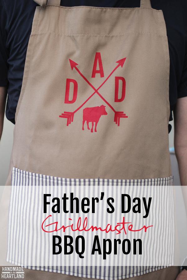 DIY DAD father's day grillmaster bbq apron