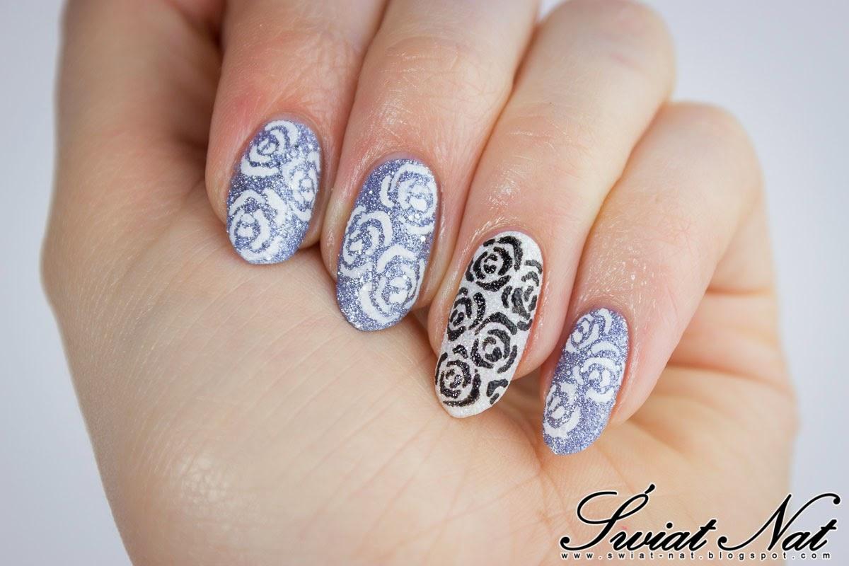 mani manicure nails nailart goldenrose wibo