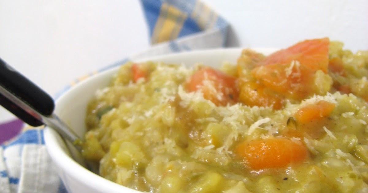 Amanida animada risotto integral de zanahoria manzana y coco - Risotto arroz integral ...