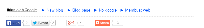 Cara pasang Icon Share Twitter, Google +, dan Facebook di Blog