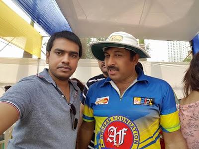 Sanjay Bhushan and Manoj Tiwari