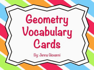 http://www.teacherspayteachers.com/Product/Geometry-Vocabulary-Cards-998091