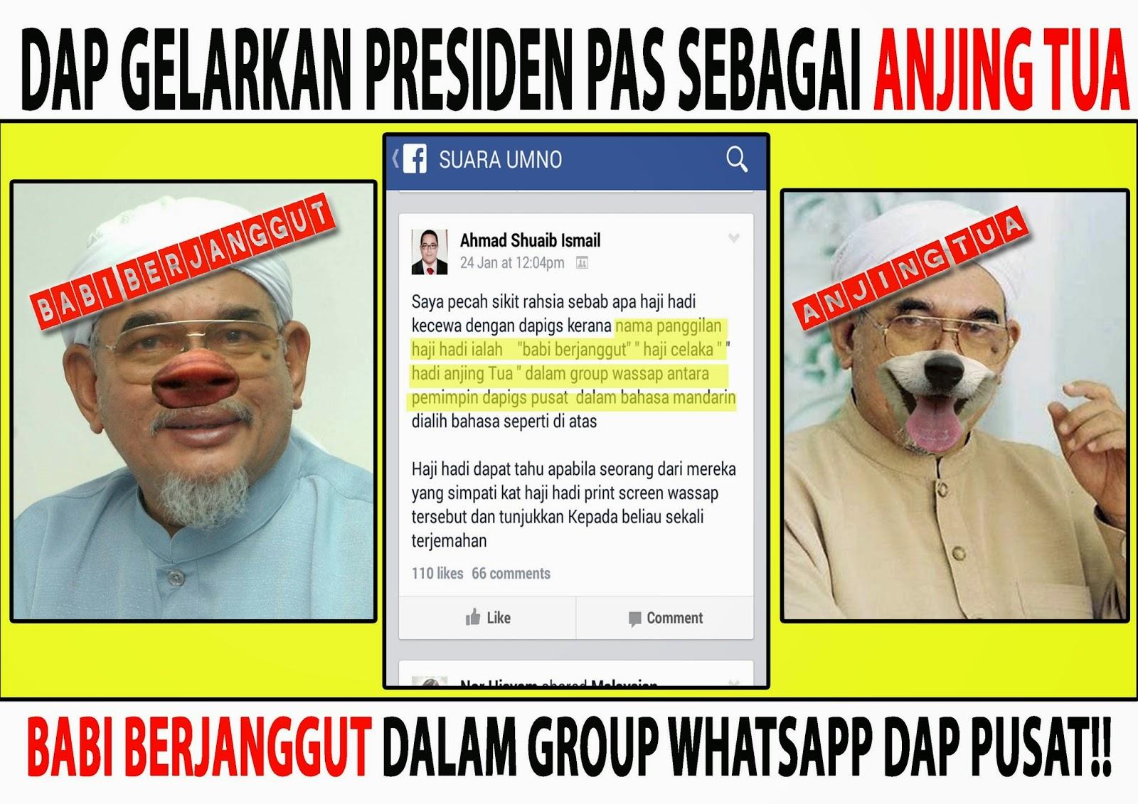 Pemimpin Pemimpin DAP Gelar Haji Hadi Anjing Tua Babi Berjanggut