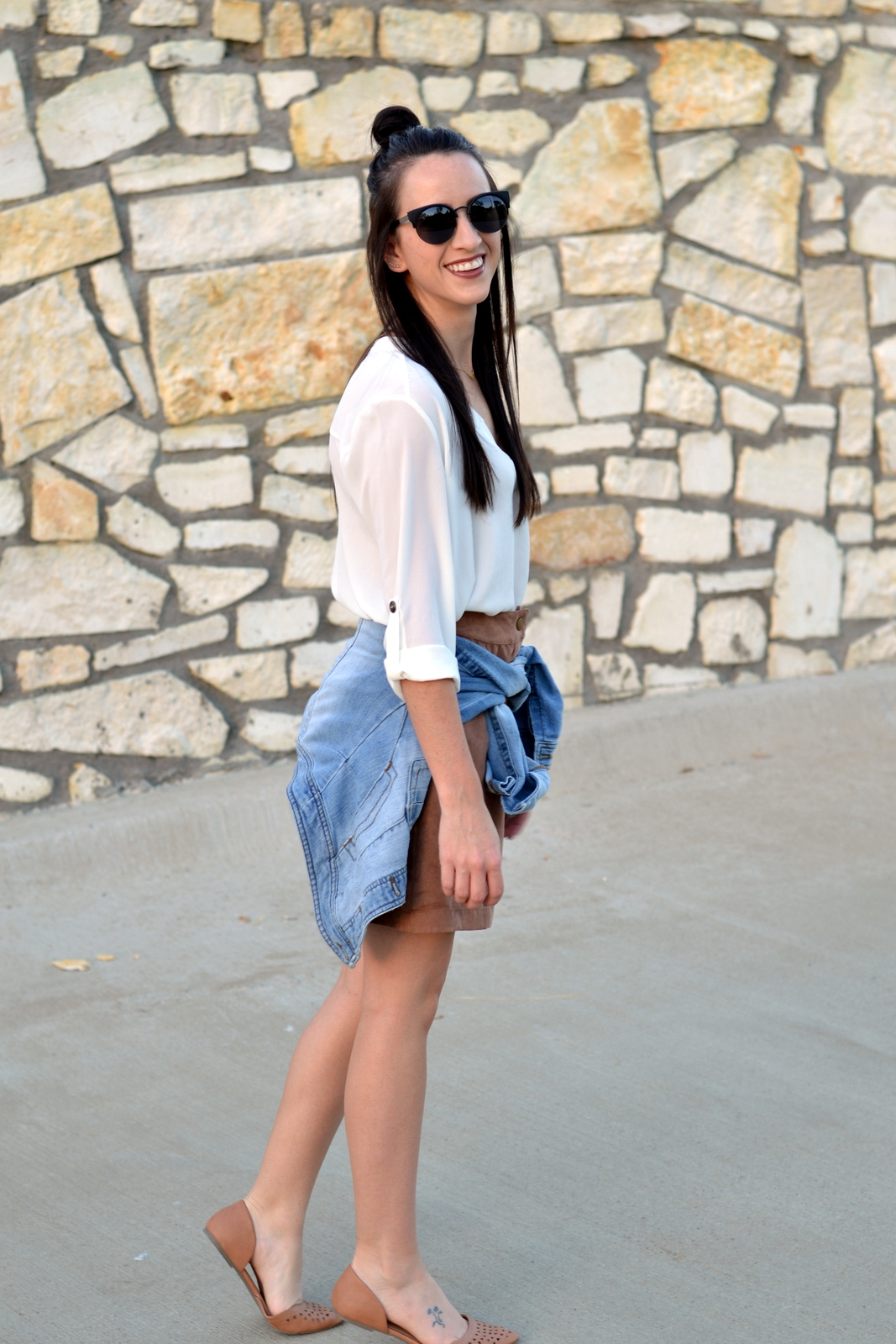 Suede_Skirt_Cat_Eye_Sunglasses