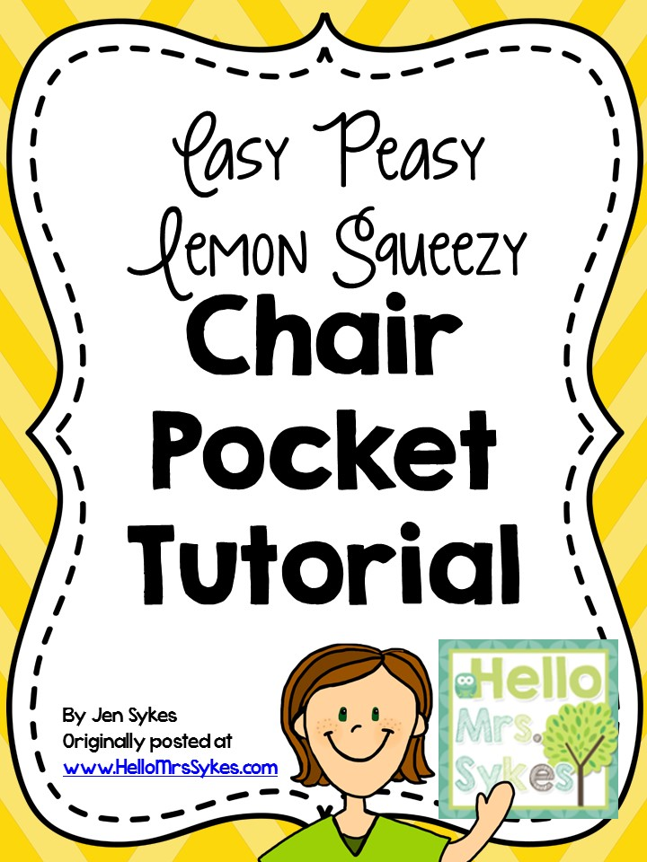 Chair Pocket Tutorial Easy Peasy Lemon Squeezy Hello Mrs Sykes