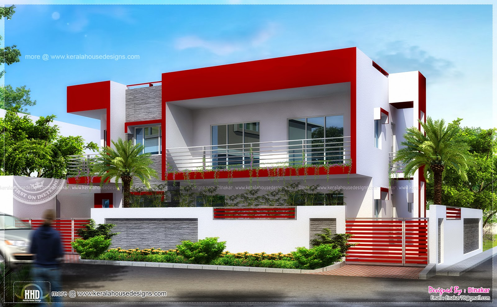 195 square meter modern contemporary home home kerala plans Modern square house