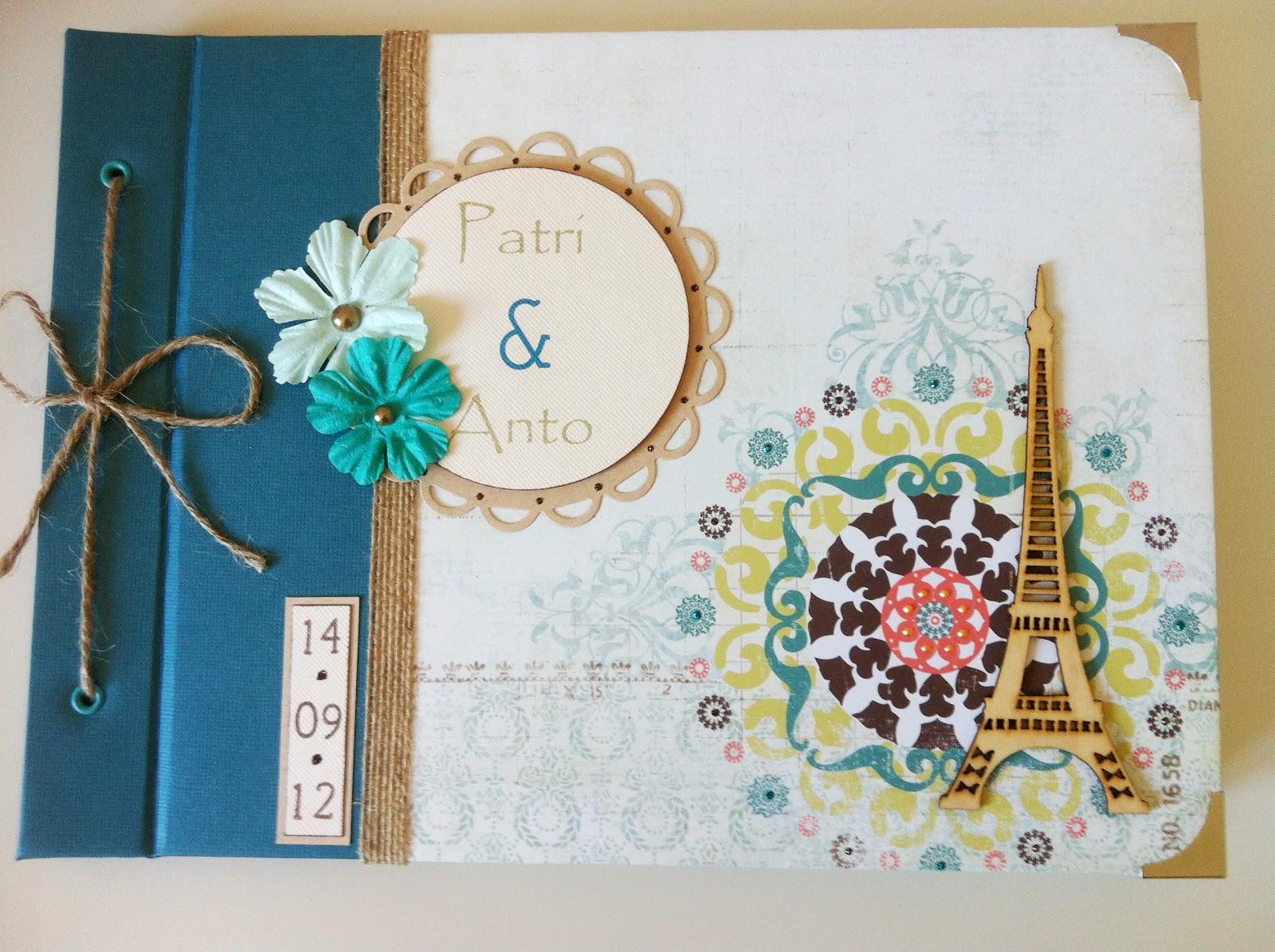 Tiz scrap nuevo libro de firmas para una boda - Libros para decorar ...