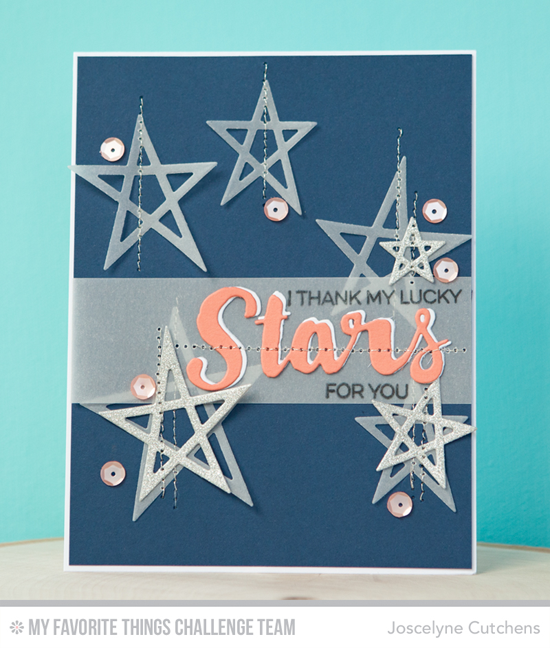 Thank My Lucky Stars Card by Joscelyne Cutchens featuring the Laina Lamb Design Count the Stars stamp set and Stars & Wishes and Lucky Stars Die-namics #mftstamps