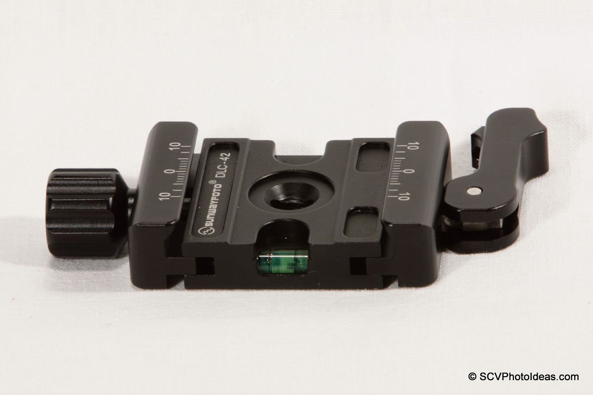 Sunwayfoto DLC-42 Duo QR Clamp side-top