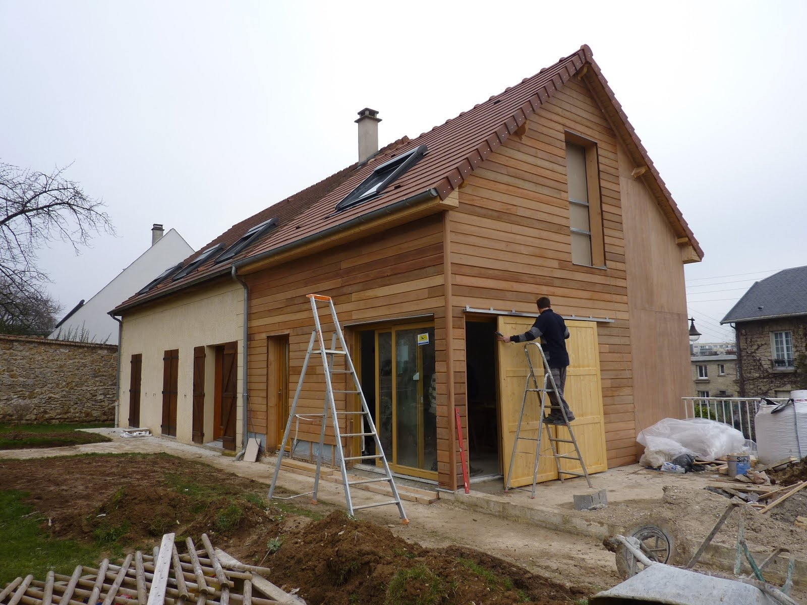 Modern architecture group extension en bois yvelines 78 for Extension en bois