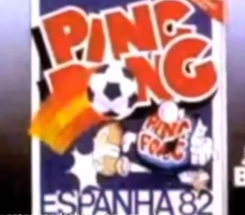 Propaganda do chiclete Ping Pong com álbum de figurinhas da Copa do Mundo realizada na Espanha em 1982.