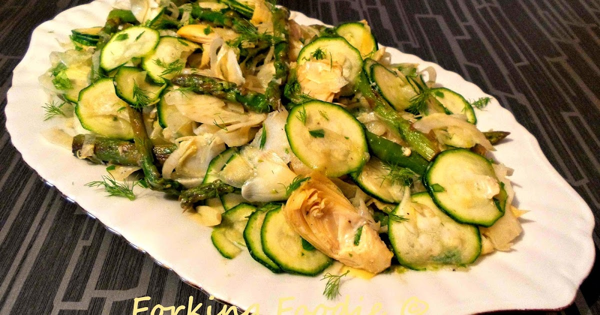Forking Foodie: Artichoke, Asparagus and Fennel Salad with a Lemon ...