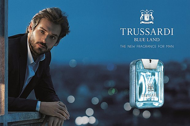 Reklama perfum Trussardi Blue Land