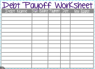 ... Printable Debt Payoff Worksheet moreover paying off debt worksheet