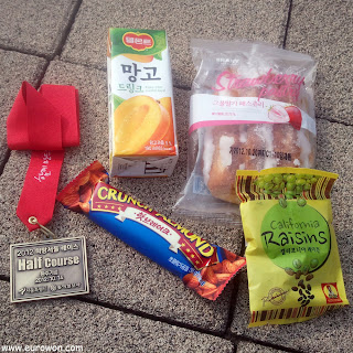 Snacks recibidos tras la carrera