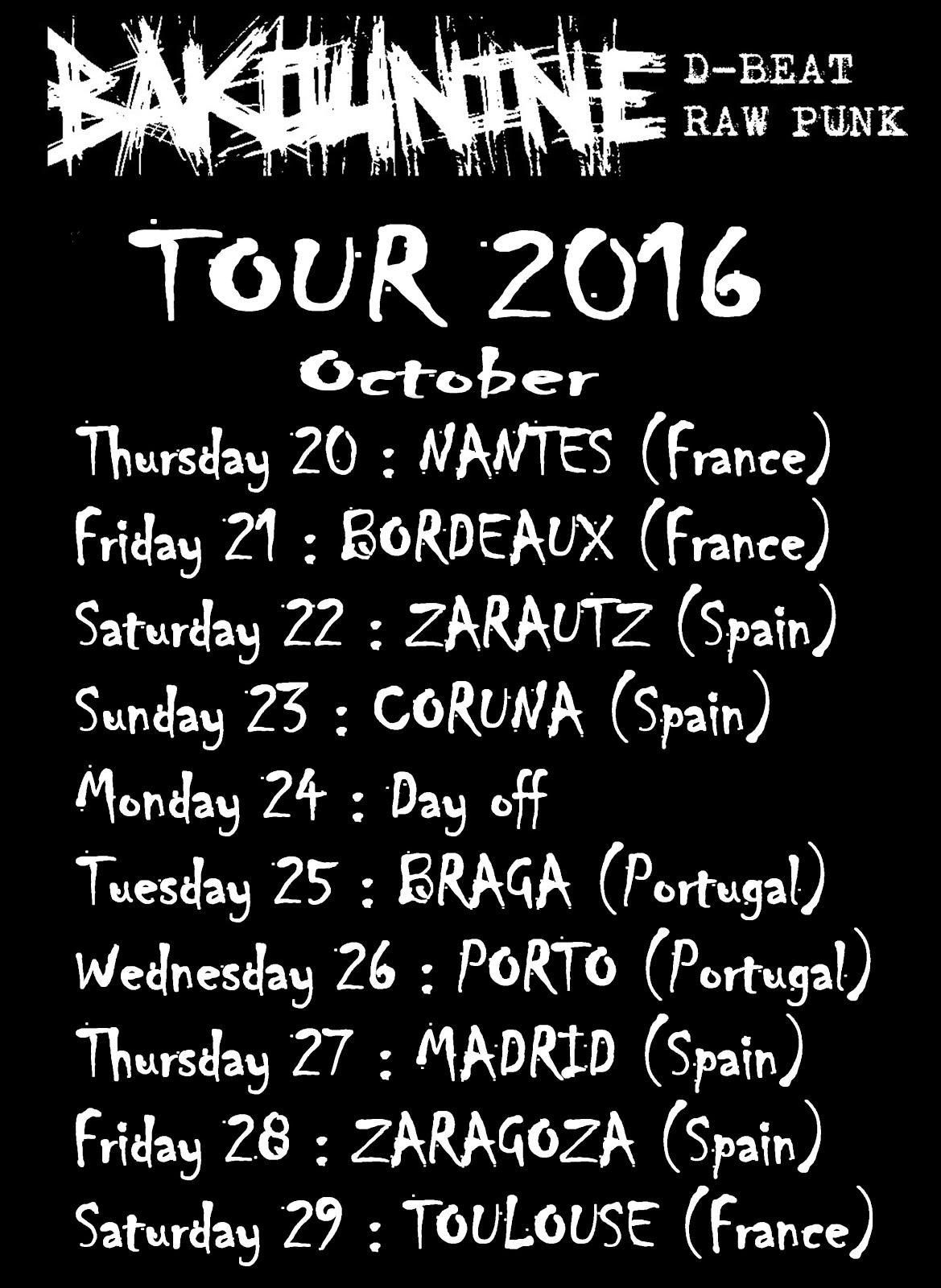 BAKOUINE TOUR 2016