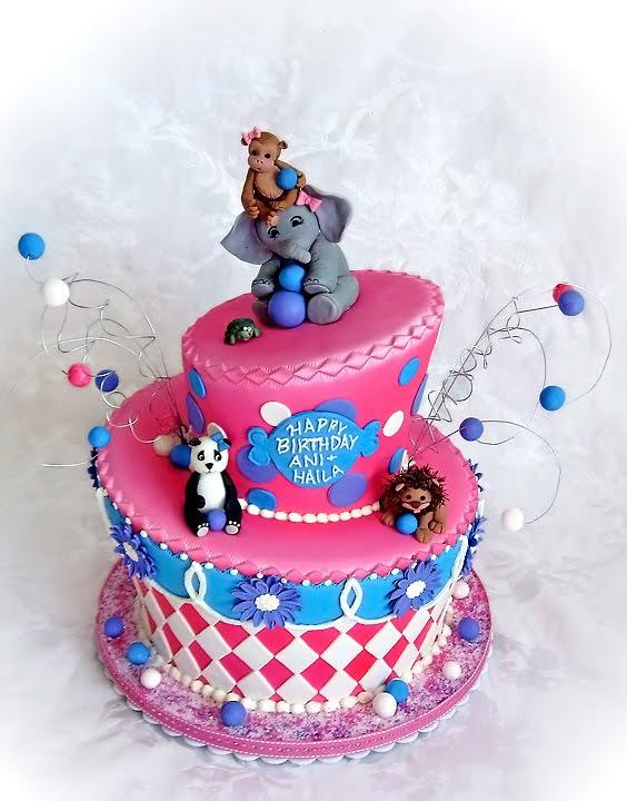 Staceys Sweet Shop Truly Custom Cakery Llc Zoo Theme Birthday Cake