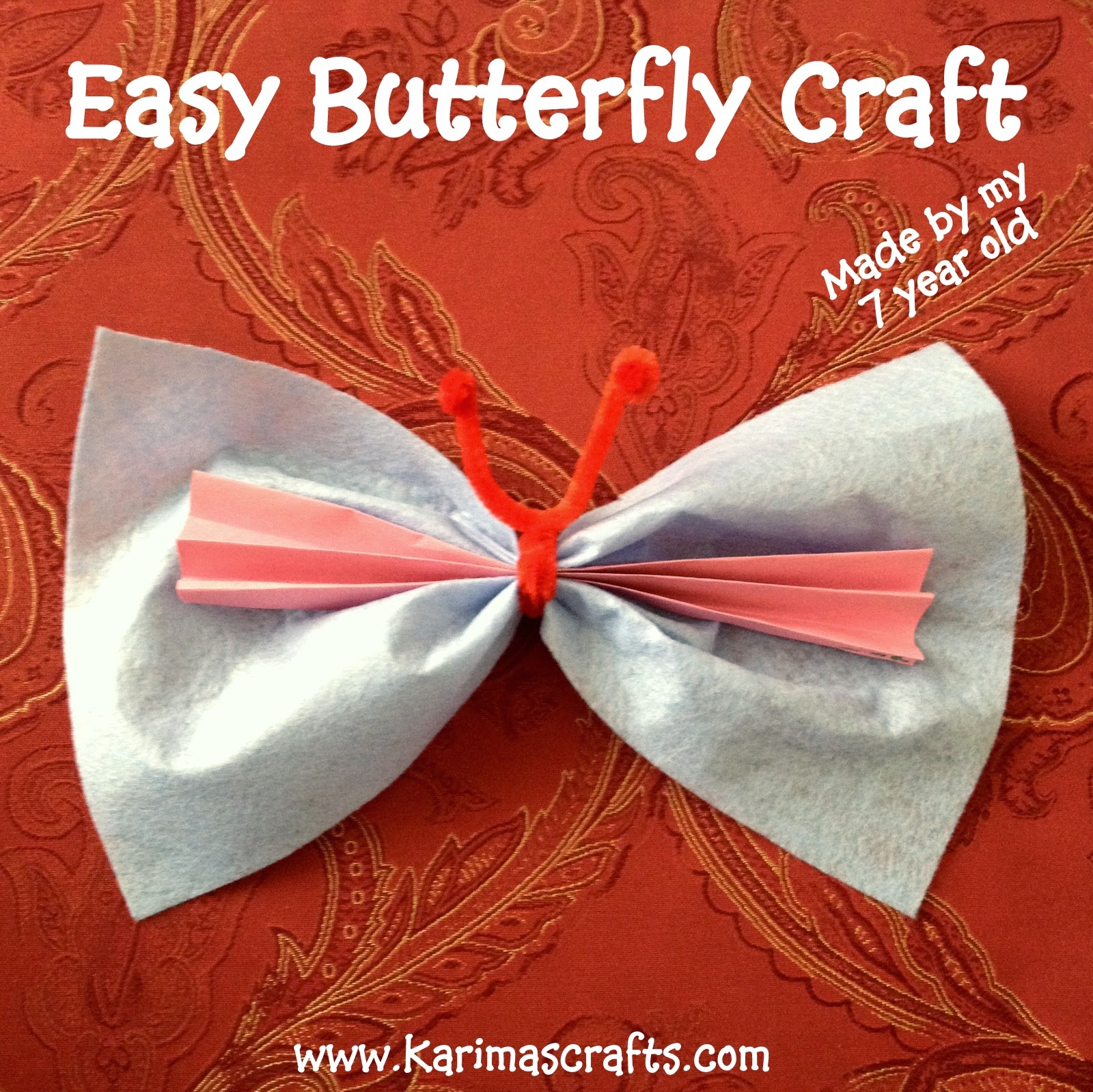 easy butterfly craft