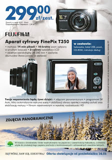 Aparat cyfrowy fotograficzny FinePix T350 Biedronka ulotka
