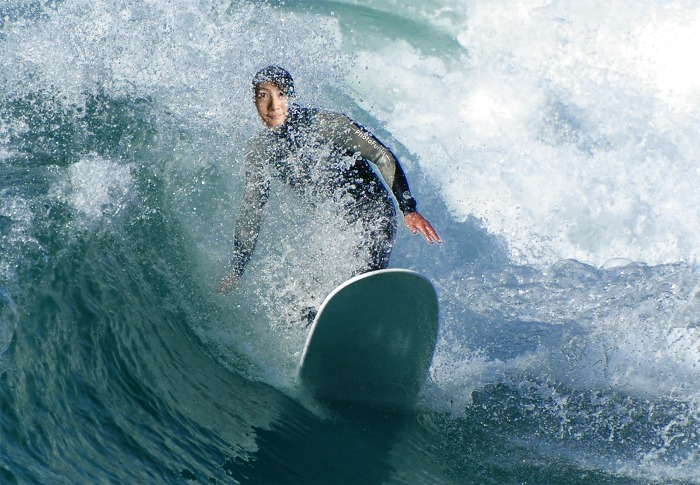 Another new effect on Photofunia - the surfer! Yoooooo... here I come ...