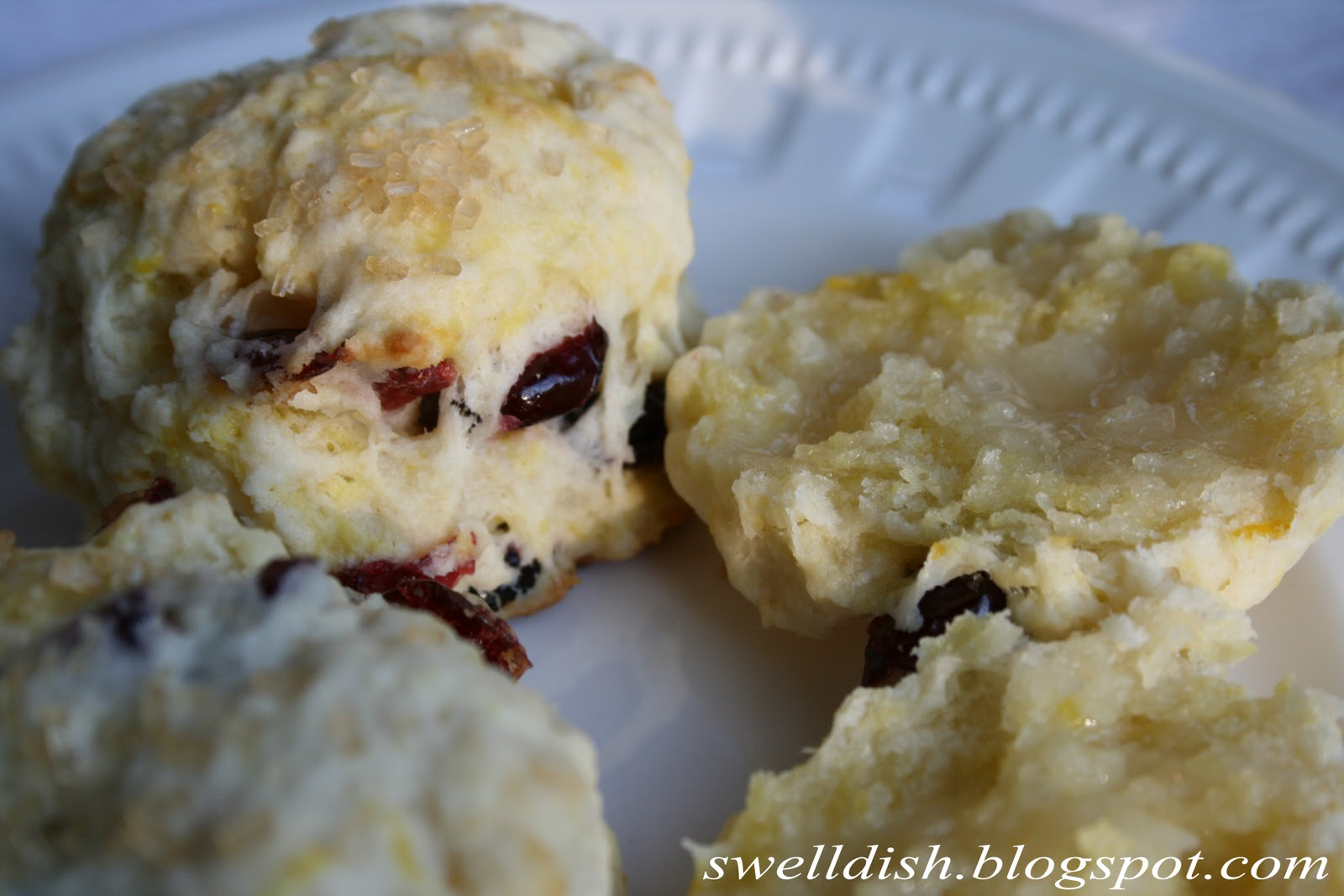 The Swell Dish Valentine Cranberry Lemon Scones