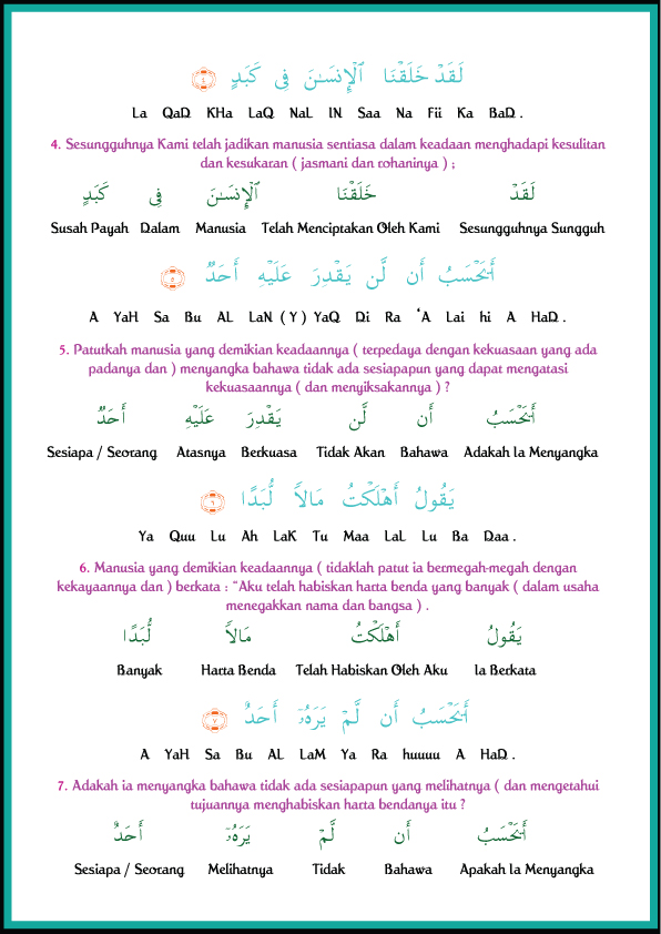 Citaten Rumi Dan Jawi : Kitab jawi lama rumi juz amma shurah al balad dan
