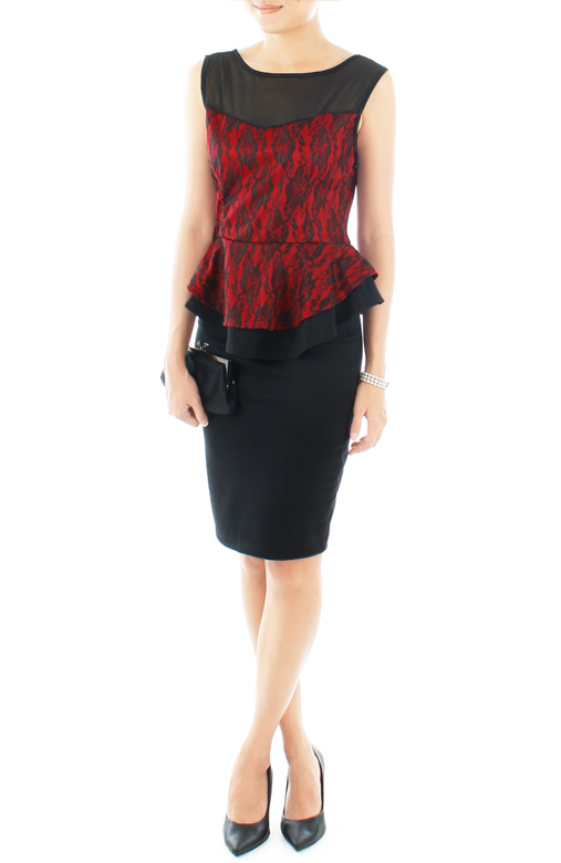 Venetian Bloom Structured Peplum Top