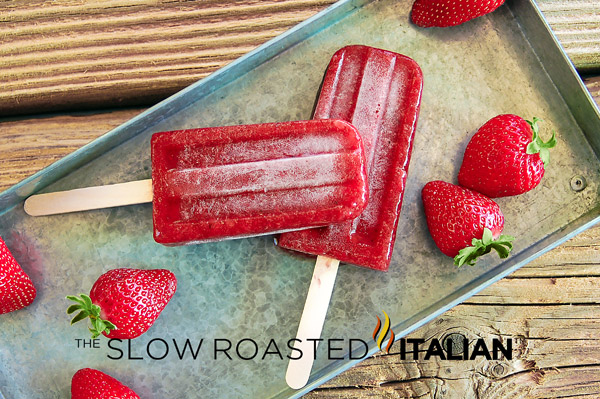 ... Italian - Printable Recipes: Gourmet Strawberry Balsamic Popsicles