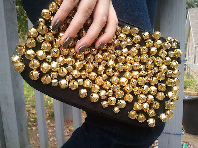 Christian Louboutin-inspired bell clutch