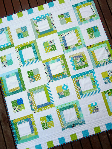 Blue and Green Quilt Patterns