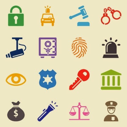 Icons representing various types of security