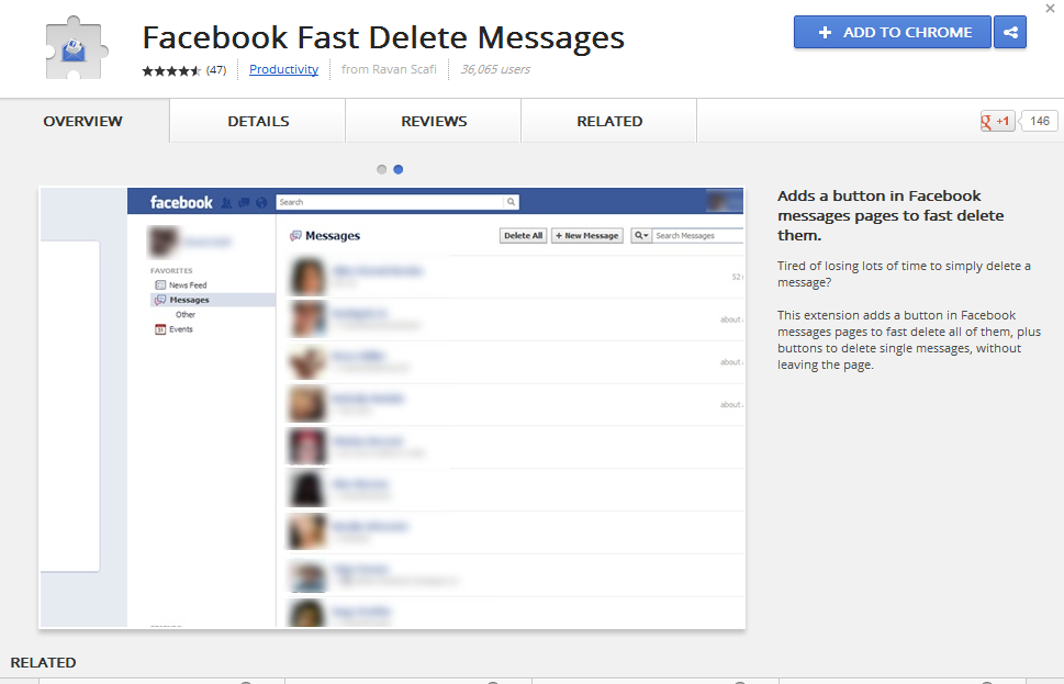 How to delete All Facebook messages - 101.5KB