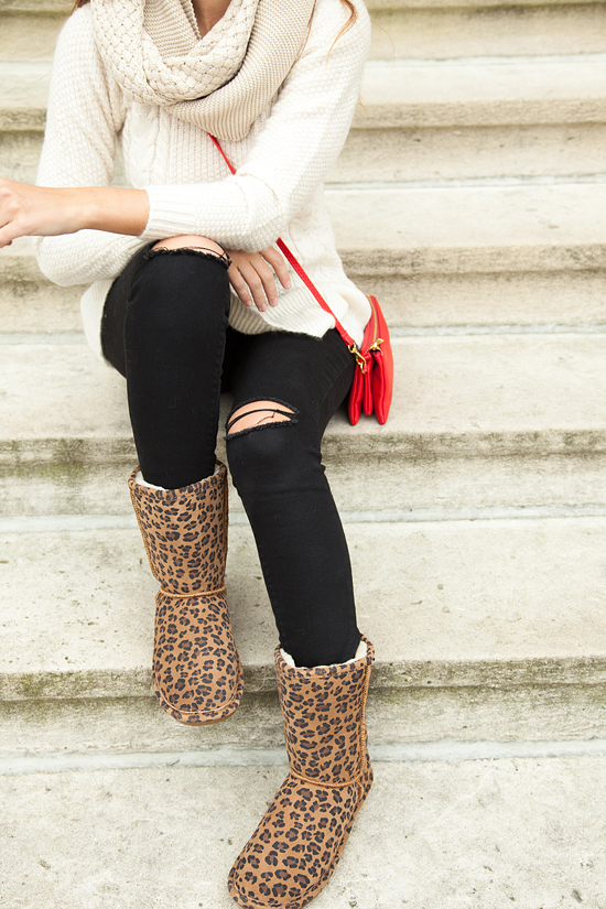 Here&Now: Famous Footwear leopard Emma boots