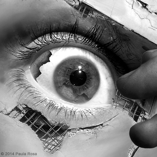 Paula Rosa mixed media art photoshop surreal foto-manipulação digital mulheres em escombros ruínas