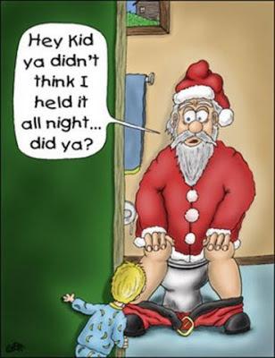 Funny santa christmas noel