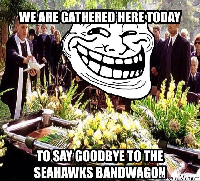 we are gathered here today to say goodbye to the seahawks bandwagon - #seahawksbandwagon #seahawkshaters #goodbyeseahawks