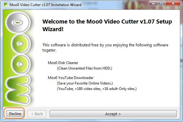 Cuidado na instalação do Moo0 Video Cutter